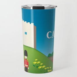 Cardiff, Wales - Skyline Illustration by Loose Petals Travel Mug