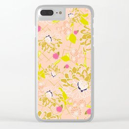Energizing spring summer flowers Clear iPhone Case