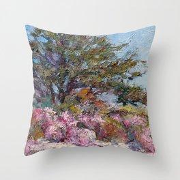 In The Pink — Point Lobos, Carmel, California Throw Pillow