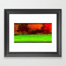 Red Trees two Framed Art Print
