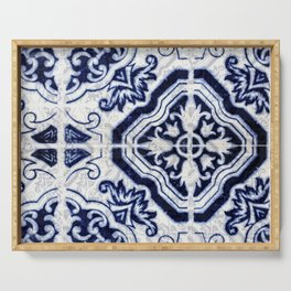 Azulejo VI - Portuguese hand painted tiles Serving Tray