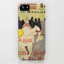 """Henri de Toulouse-Lautrec """"La Goulue"""" iPhone Case"""