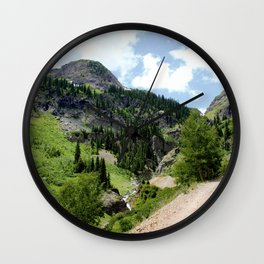 Old Wagon Road to the Silver Crown and Silver Cloud Gold Mines Wall Clock