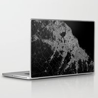 poland Laptop & iPad Skins featuring Warsaw map poland by Line Line Lines