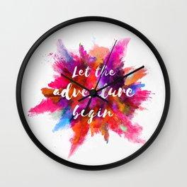 Let the adventure begin. Wall Clock