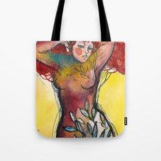 donna albero con capelli rossi Tote Bag