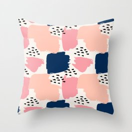 Abstract Pastels Throw Pillow