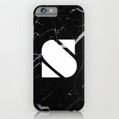 Black Marble - Alphabet S Slim Case iPhone 6