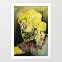 zombies Art Prints featuring zombies by Marcelo O. Maffei