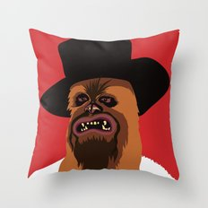 The Good, The Bad and The Ugly Wookie Throw Pillow