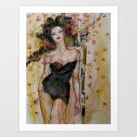 brooklyn Art Prints featuring Brooklyn by Stephanie Noblet Miranda
