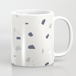 Midnight Navy Gray Creme Terrazzo #1 #decor #art #society6 Coffee Mug