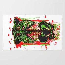 Zombie color Skeleton Headless Legless  Rug