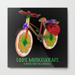 E-Bike muscle Metal Print
