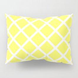 Criss-Cross (White & Light Yellow Pattern) Pillow Sham