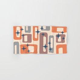 Retro Mid Century Modern Abstract Pattern 926 Orange Brown Gray Hand & Bath Towel
