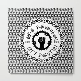 CITY REVOLUTION CITY EVOLUTION Metal Print