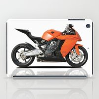 motorbike iPad Cases featuring KTM RC8 motorbike by cjsphotos