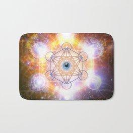 """Aad Guray Nameh""- Merkaba-  Protective energy of the Universe Bath Mat"