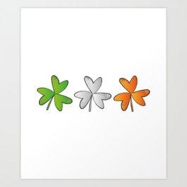Shamrock Irish St Patricks Day Art Print