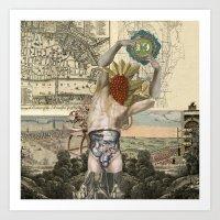atlas Art Prints featuring Atlas by DIVIDUS