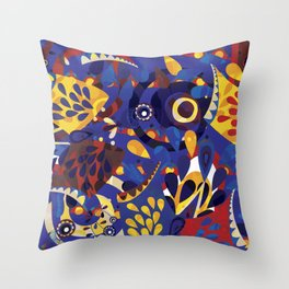 We are all birds Throw Pillow