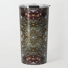 Abstract brown, dark gray texture pattern Travel Mug