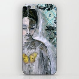 Vintage Book Cover Girl iPhone Skin