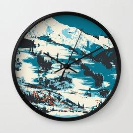 Vintage Ski Aspen Poster Wall Clock