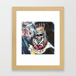 Las Vegas Skull Graffiti Framed Art Print