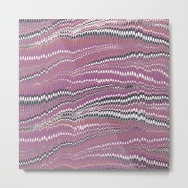 Electrified Ripples Pink Metal Print