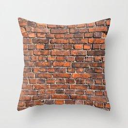 Texture - Brick wall Throw Pillow