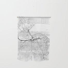 Rio De Janeiro White Map Wall Hanging