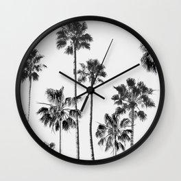 Black & White Palms 3 Wall Clock