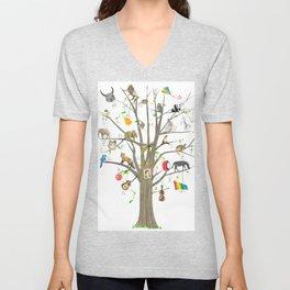 Alphabet Tree Unisex V-Neck