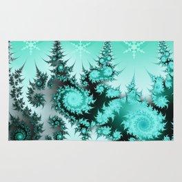 Winter magic in soft blue Rug