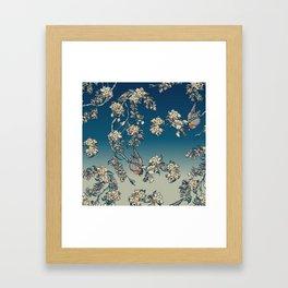 Bullfinch and French Bulldog Cherry Framed Art Print