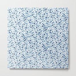 MOSAICS: DUSTY BLUE Metal Print