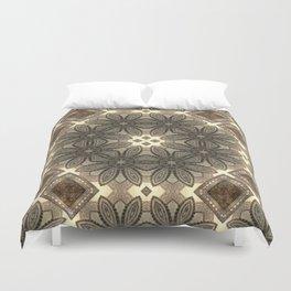 Victorian Art Deco Medieval Pattern light brown SB23 Duvet Cover