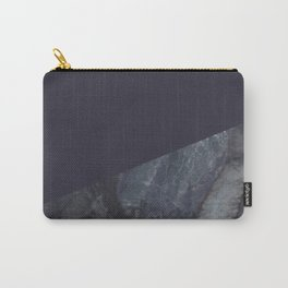 Marble Geometric Navy Blue Indigo Carry-All Pouch