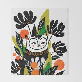 Mossy Cat Throw Blanket