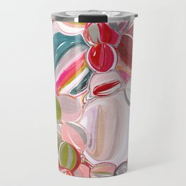 Beach Balls - Colorful Abstract Travel Mug