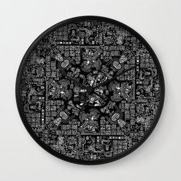 Mayan Spring B&W II Wall Clock