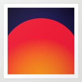 Sunset Coral Art Print