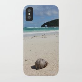 The Coconut Nut is a Giant Nut - beach view iPhone Case