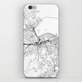 Rio De Janeiro White Map iPhone Skin