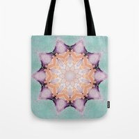 snowflake Tote Bags featuring snowflake by patternization
