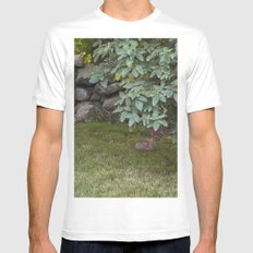 Trying to hide Mens Fitted Tee MEDIUM White