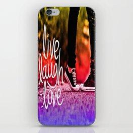 Live, laugh, love iPhone Skin