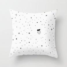 The universe - white Throw Pillow